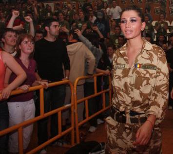 eba, military style. foto de pe pagina de facebook a elenei basescu